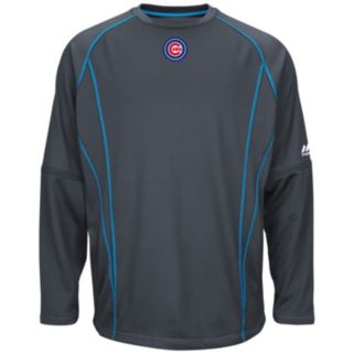 Big & Tall Majestic Chicago Cubs Texture Fleece Pullover