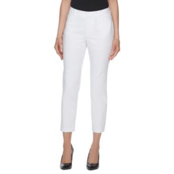 Women's ELLE? White Ankle Dress Pants