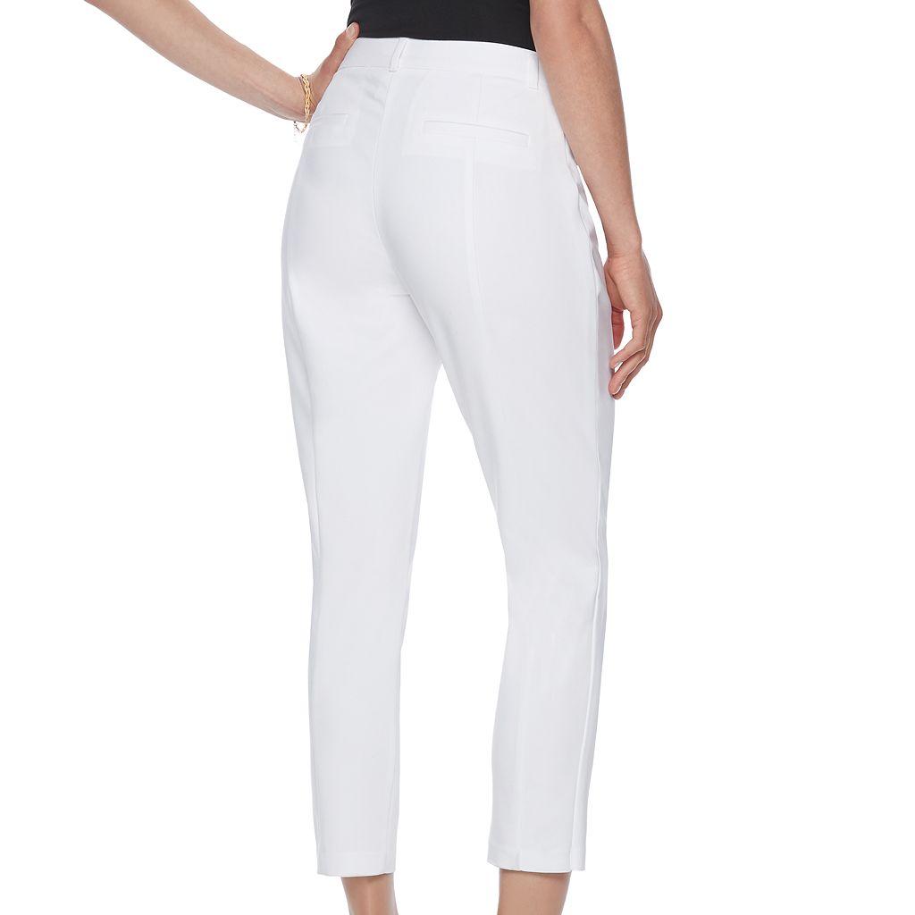 Women's ELLE™ White Ankle Dress Pants