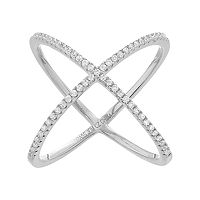 Fleur Cubic Zirconia X Ring