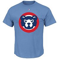 Big & Tall Majestic Chicago Cubs Cooperstown Official Logo Tee