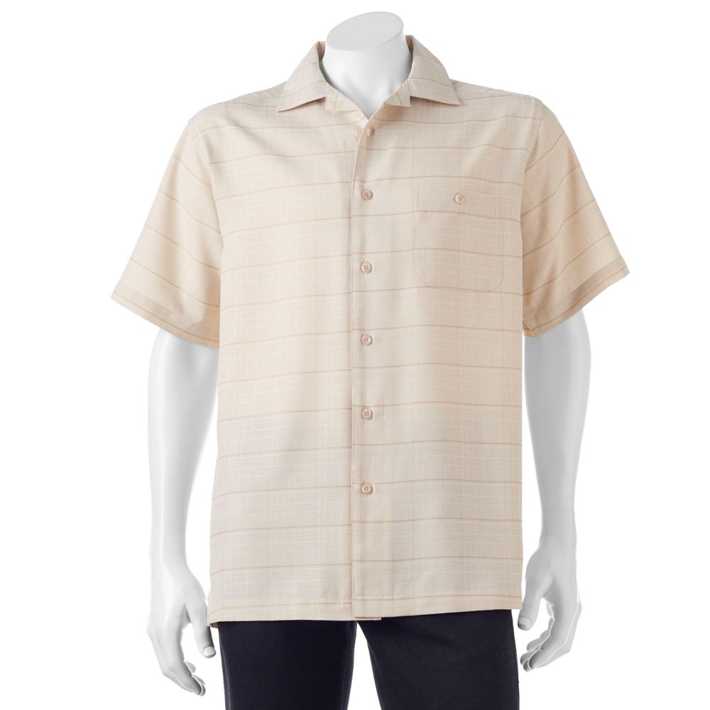 Haggar Classic-Fit Microfiber Easy-Care Button-Down Shirt
