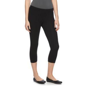 Women's LC Lauren Conrad Black Capri Leggings