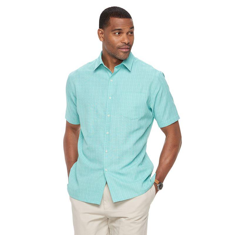 Men's Croft & Barrow® Signature Classic-fit Microfiber Button-down Shirt, Size: Small, Med Green