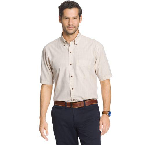Big & Tall Arrow Solid Button-Down Shirt