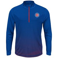 Big & Tall Majestic Chicago Cubs Quarter-Zip Mockneck Pullover