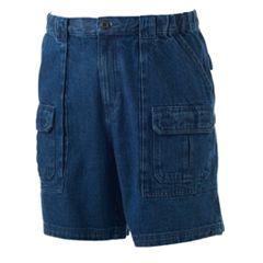 Men's Croft & Barrow® Classic-Fit Denim Side-Elastic Cargo Shorts