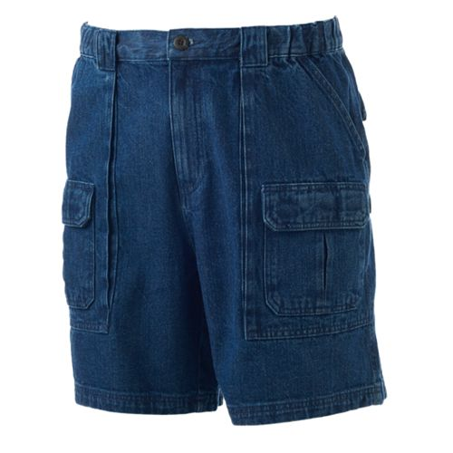 Men's Croft & Barrow® Classic-Fit Denim Side-Elastic Cargo Shorts