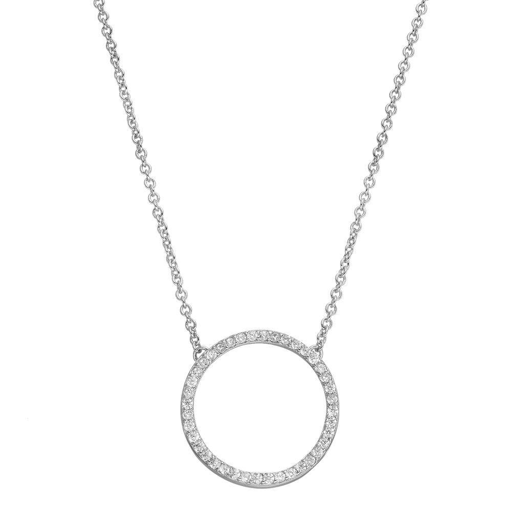 Fleur Cubic Zirconia Circle Necklace