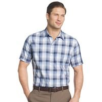 Big & Tall Van Heusen Classic-Fit Plaid Textured Button-Down Shirt
