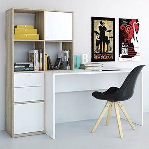 Wakefield Two-Tone Bookshelf Desk