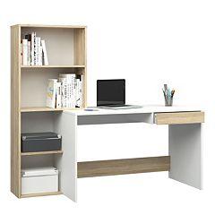 Whitney Two-Tone Bookshelf Desk