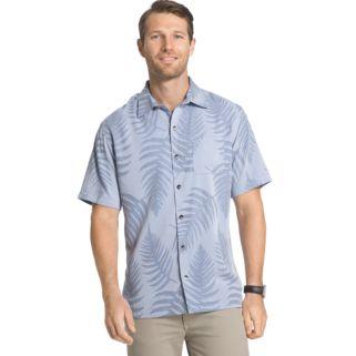 Big & Tall Van Heusen Classic-Fit Textured Leaf Jacquard Button-Down Shirt