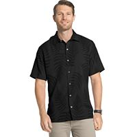 Big & Tall Van Heusen Classic-Fit Textured Leaf Jacquard Button-Down Shirt