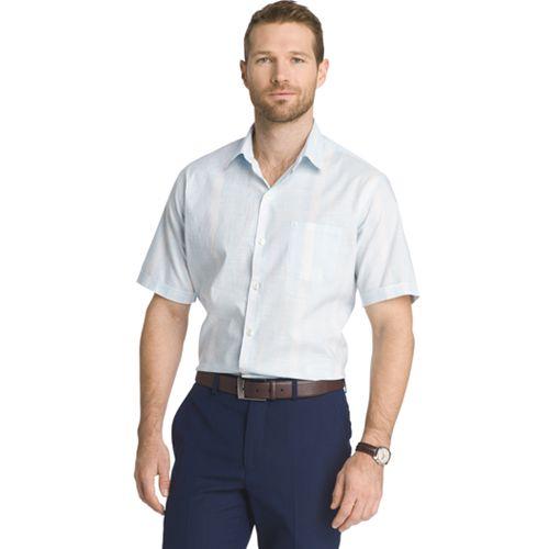 Big & Tall Van Heusen Classic-Fit Leaf Button-Down Shirt