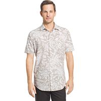 Big & Tall Van Heusen Classic-Fit Leaf Button-Down Shirt