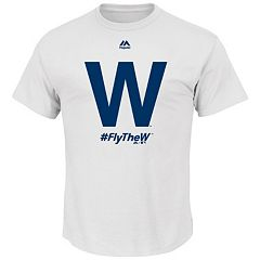 Big & Tall Majestic Chicago Cubs 'Fly The W' Tee