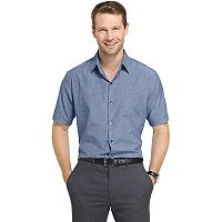 Big & Tall Van Heusen Air Wovens Classic-Fit Poplin Performance Button-Down Shirt