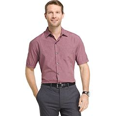Big & Tall Van Heusen Air Wovens Classic-Fit Poplin Performance Button-Down Shirt