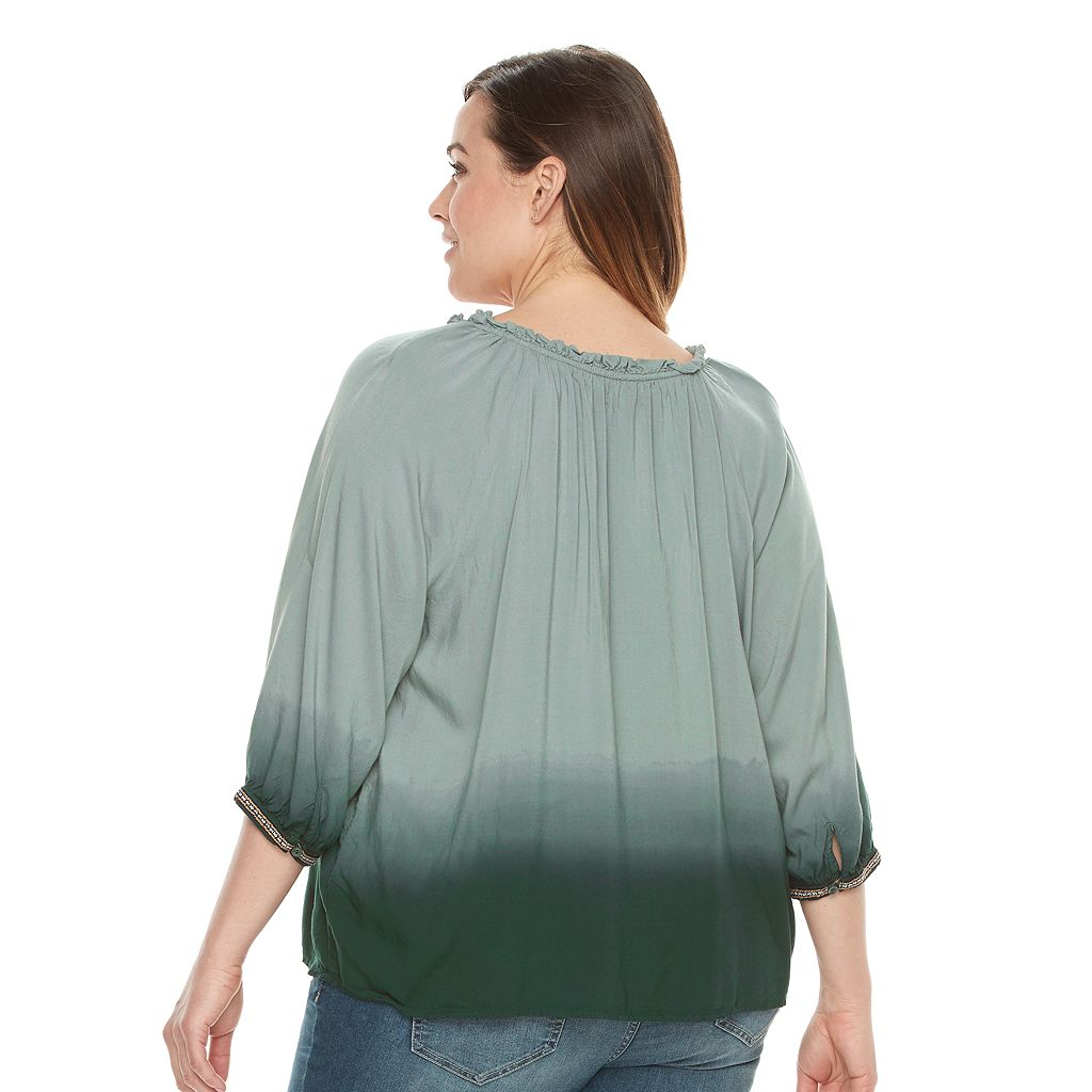 Plus Size SONOMA Goods for Life™ Dip-Dye Peasant Top