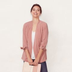 Womens Pink Blazers & Suit Jackets - Tops, Clothing | Kohl's