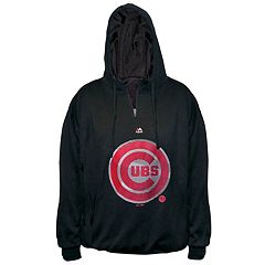 Big & Tall Majestic Chicago Cubs 1/4-Zip Hoodie