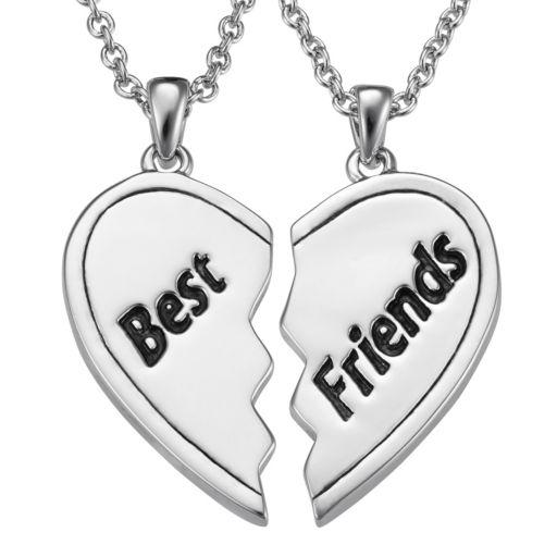 """""""Best Friends"""" Heart Pendant Necklace Set"""