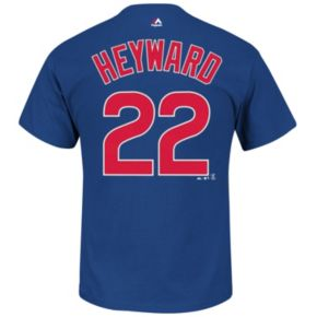 Big & Tall Majestic Chicago Cubs Jason Heyward Player Name and Number Tee