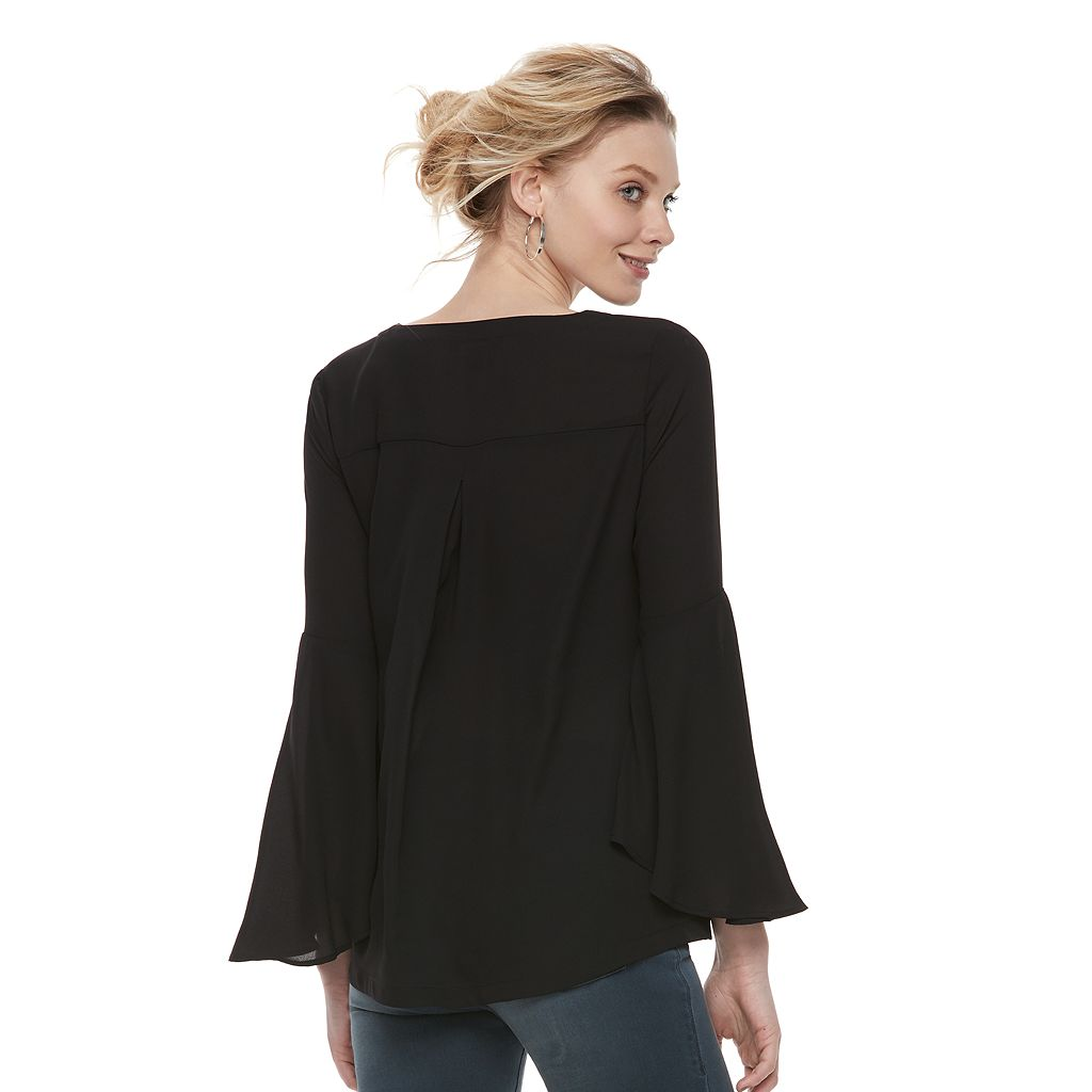 Women's Rock & Republic® Bell Sleeve Flounce Top