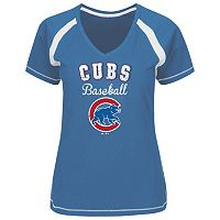 Plus Size Majestic Chicago Cubs Team Tee
