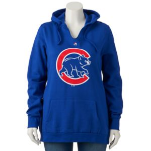 Plus Size Majestic Chicago Cubs Primary Hoodie