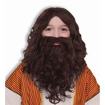Kids Costume Wig & Beard Set