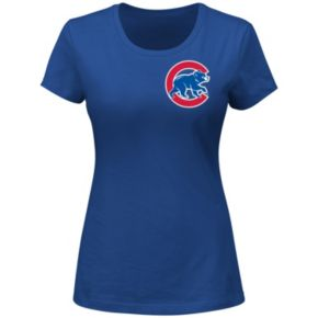 Plus Size Majestic Chicago Cubs Jake Arrieta Player Name and Number Tee