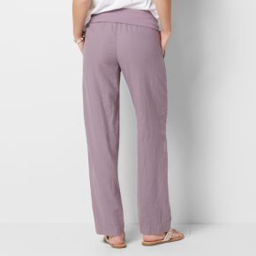 Women's SONOMA Goods for Life™ Straight-Leg Linen Blend Pants