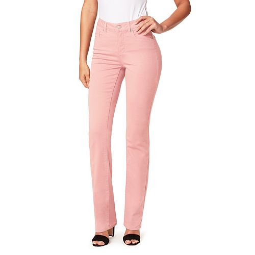 Women's Miracle Jean Dream Slimming Stretch High-Rise Straight-Leg Jeans