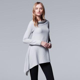 Women's Simply Vera Vera Wang Simply Separates Asymmetrical Top