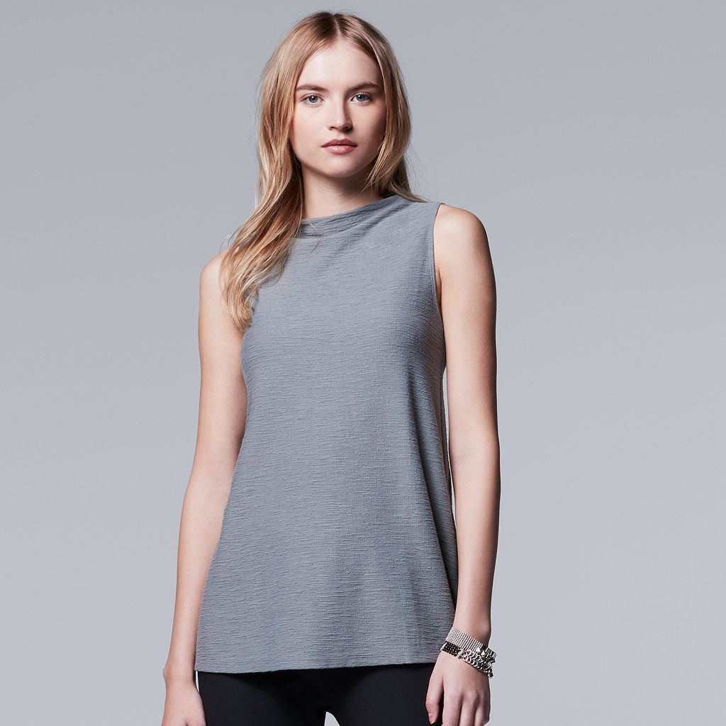 Women's Simply Vera Vera Wang Simply Separates Mockneck Top