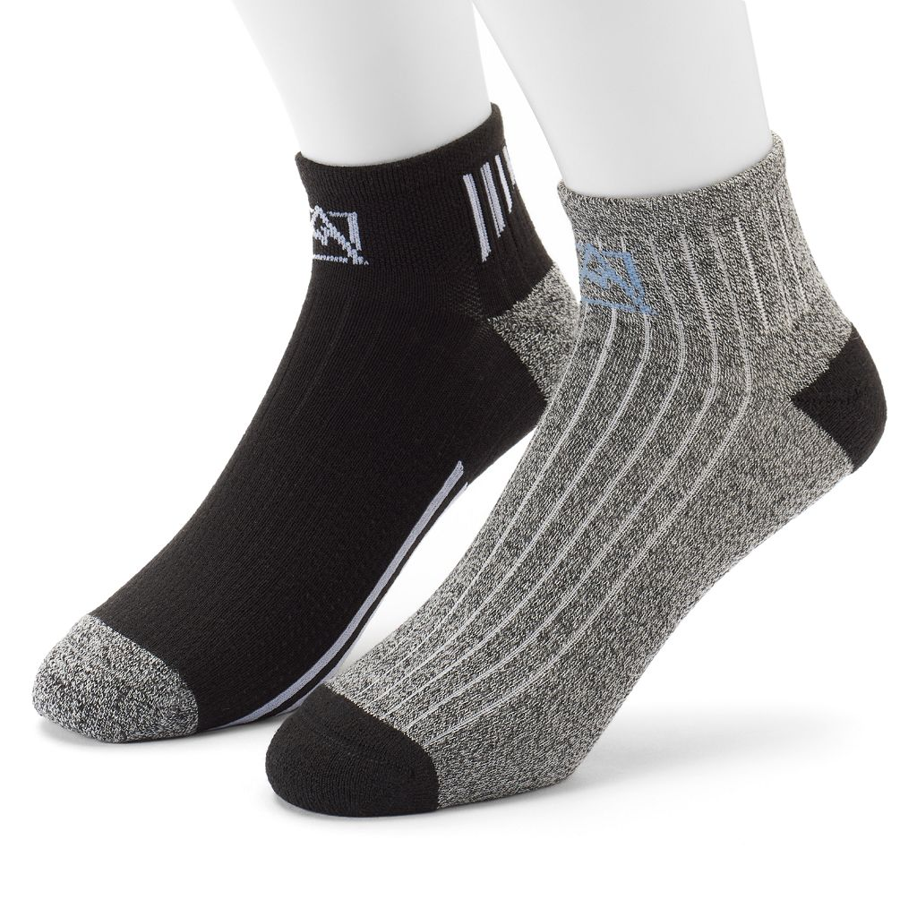 Men's Avalanche 2-pack Wool-Blend Outdoor Quarter Socks