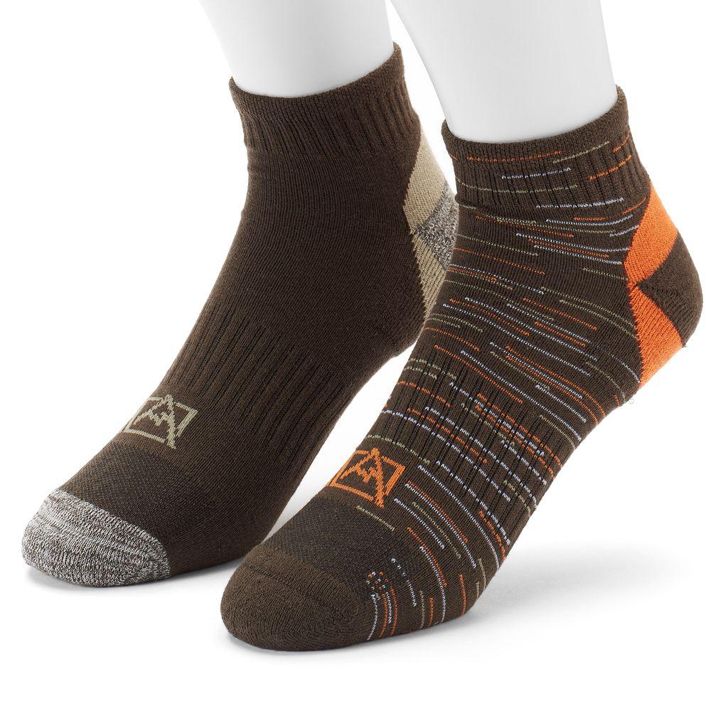 Men's Avalanche 2-pack Wool-Blend Outdoor Quarter Socks
