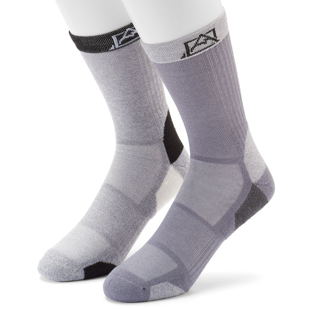 Men's Avalanche 2-pack Wool-Blend Outdoor Crew Socks
