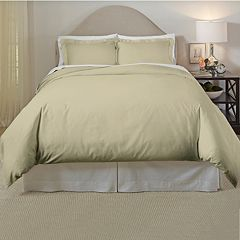 Pointehaven 300 Thread Count Cotton Duvet Cover Set