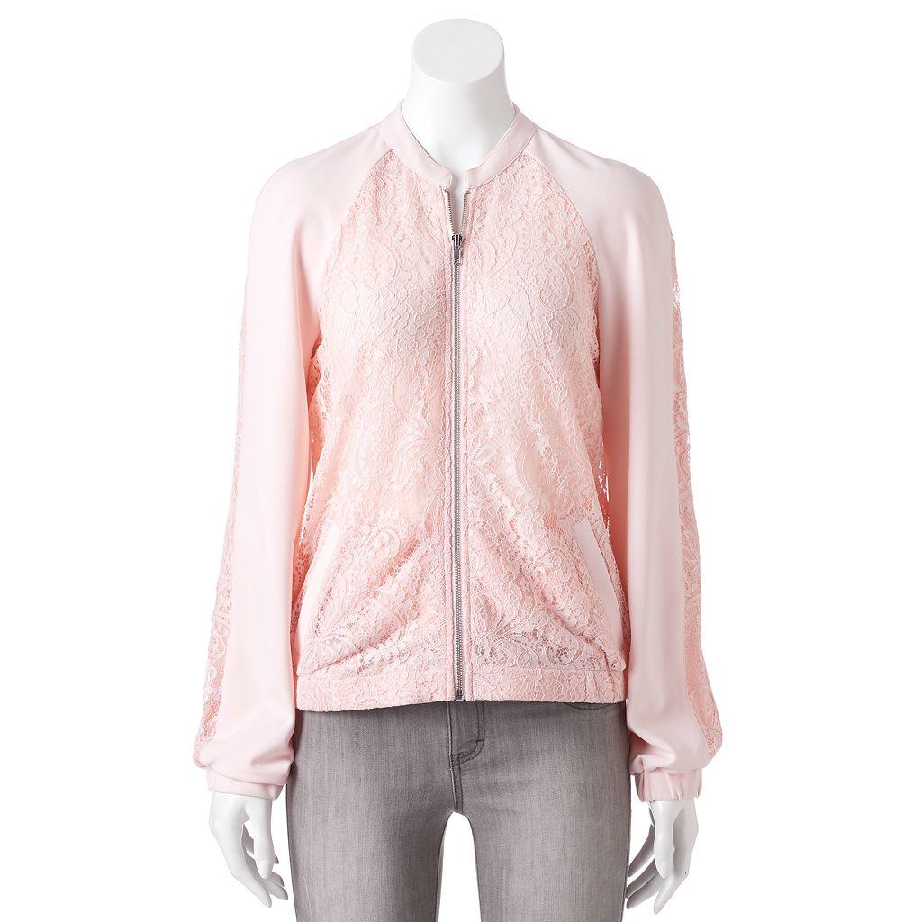 Women's Apt. 9® Lace Bomber Jacket