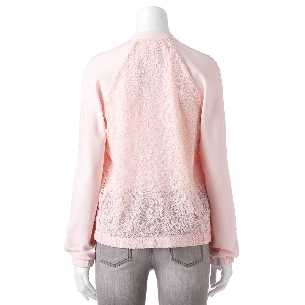 Women's Apt. 9® Lace Bomber Jacket