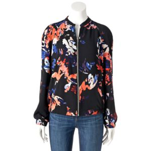 Women's Apt. 9® Abstract Bomber Jacket