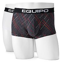 Men's equipo 2-pack Geometric Microfiber Stretch Brazilian Trunks