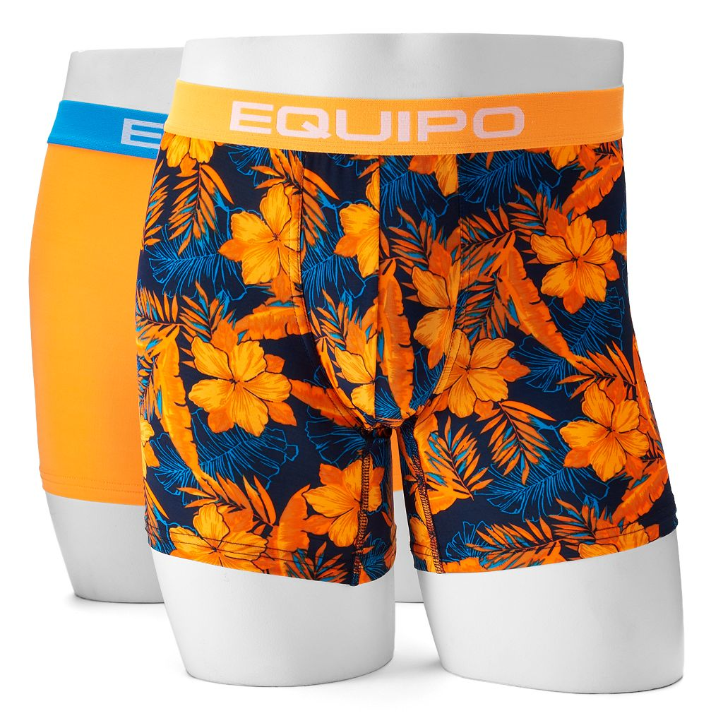 Men's equipo 2-pack Solid & Floral Sport Mesh Performance Boxer Briefs