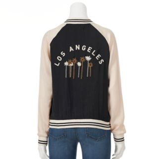 Juniors' About A Girl Los Angeles Bomber Jacket