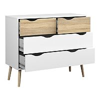 Diana Two-Tone 4-Drawer Dresser