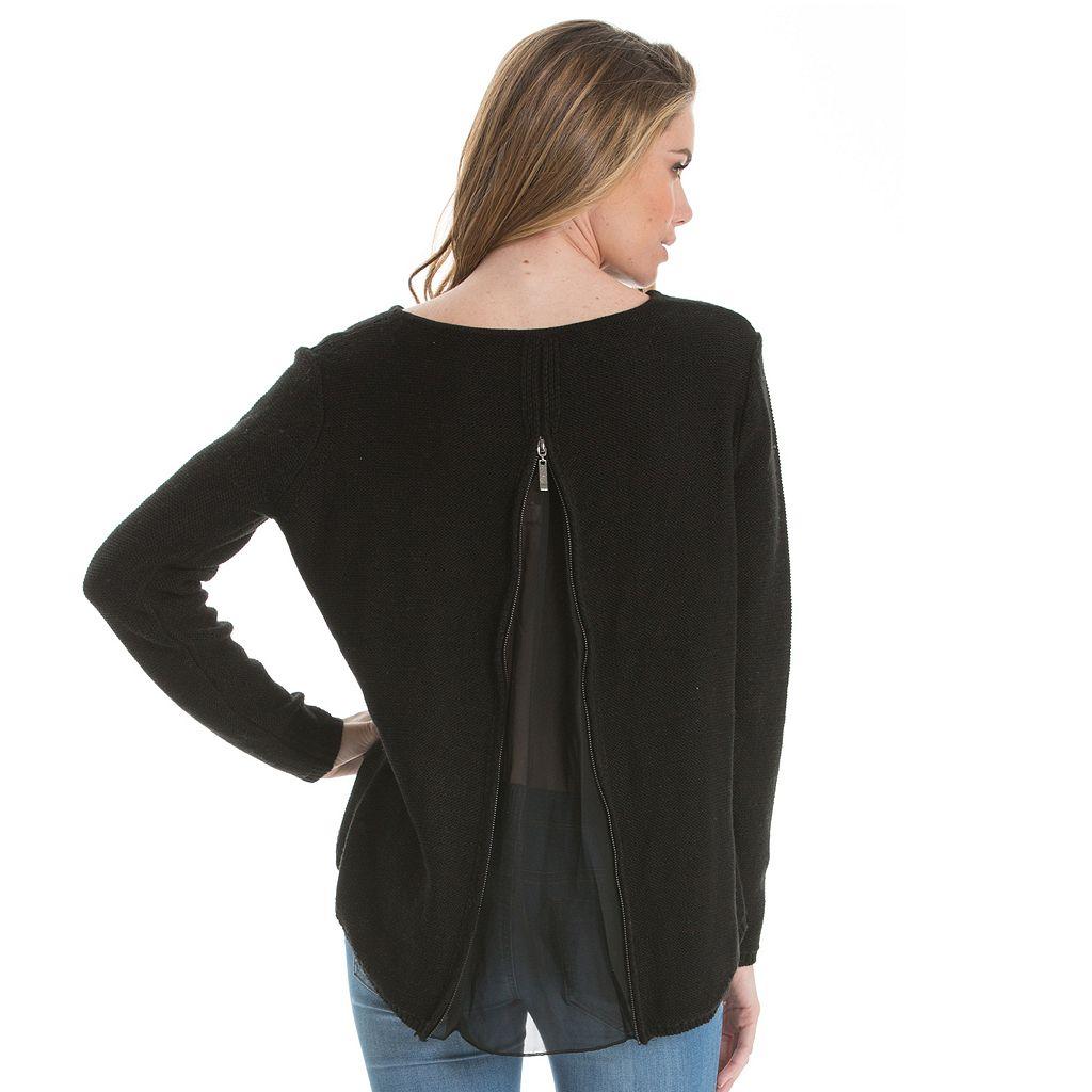 Women's E by Elan High-Low Crewneck Sweater
