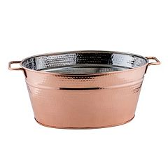 Old Dutch Hammered Copper Oval Beverage Tub